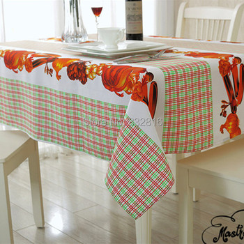 100% Polyester Fruit Plaid Printed Table Cloth Kitchen Dining Rectangular Table Cover Outdoor Table Linen 140X180CM/140x240CM