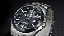 Casima nueva serie de energía de la luz solar energía impermeable luminosa sapphire hombres de relojes mecánicos