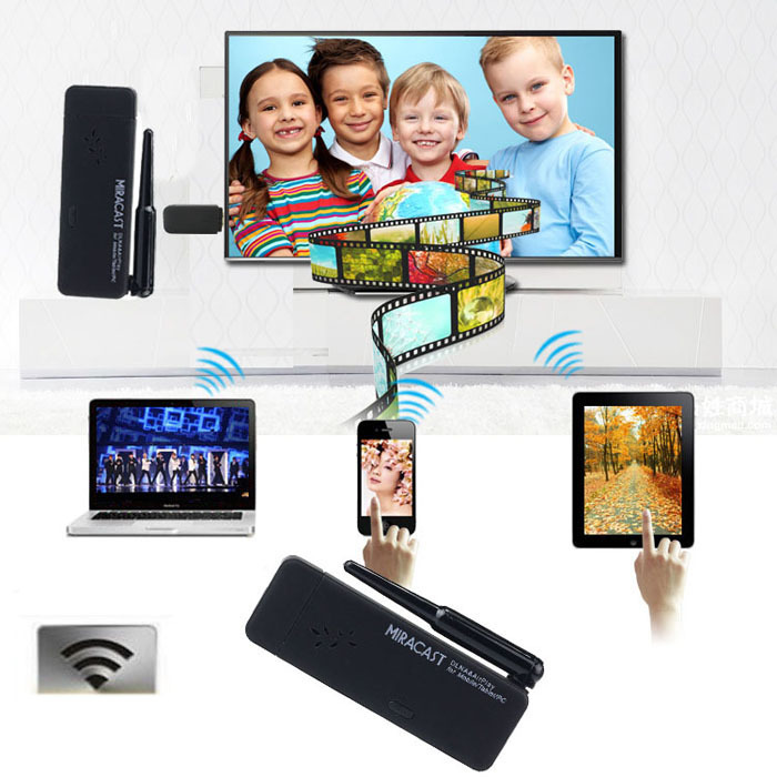 New Miracast Wifi Display TV Dongle Receiver Wireless IPUSH AirPlay DLNA Tonsee(China (Mainland))