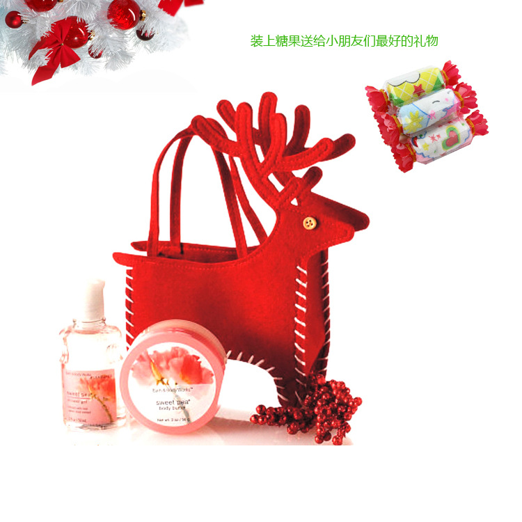 6 PCS\ LOT Christmas gift bag Christmas deer style cosmetic products Veados Nicolas do presente production Hounaweida CRISTMAS(China (Mainland))