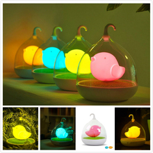 Xmas Hanging Design Touch Sensor  Home Decor Lighting kids Bedroom LED Vibration Birdcage Night Light Rechargeable Ambient Lamp(China (Mainland))