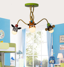 3 Heads Modern Creative Cartoon Children Bedroom LED Ceiling Lamp Boy and Girl Study LED Ceiling Light Free Shipping(China (Mainland))