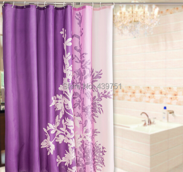 2014 Hot Sale Christmas Gift Bathroom Curtain Purple