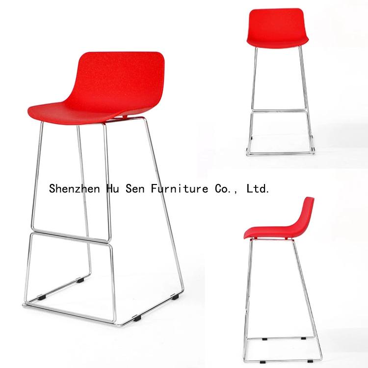 Fashion Creative bar chairs cafe bar stool PP hotel clubs reception chairs modern bar furniture(China (Mainland))