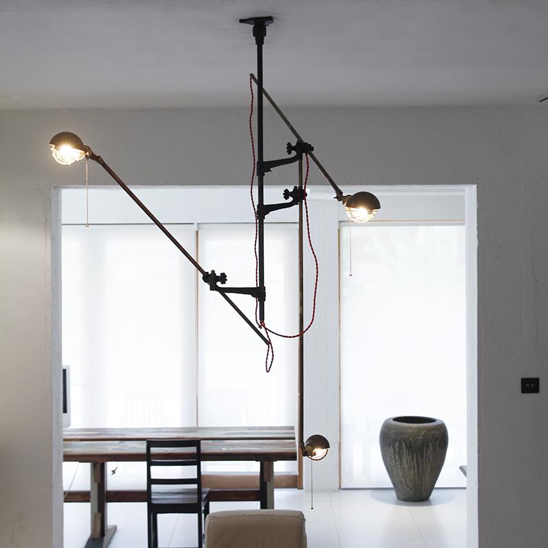 Retro Vintage Loft Industrial chandelier ceiling lamp simple shop lighting 3 heads pendant commercial lights(China (Mainland))