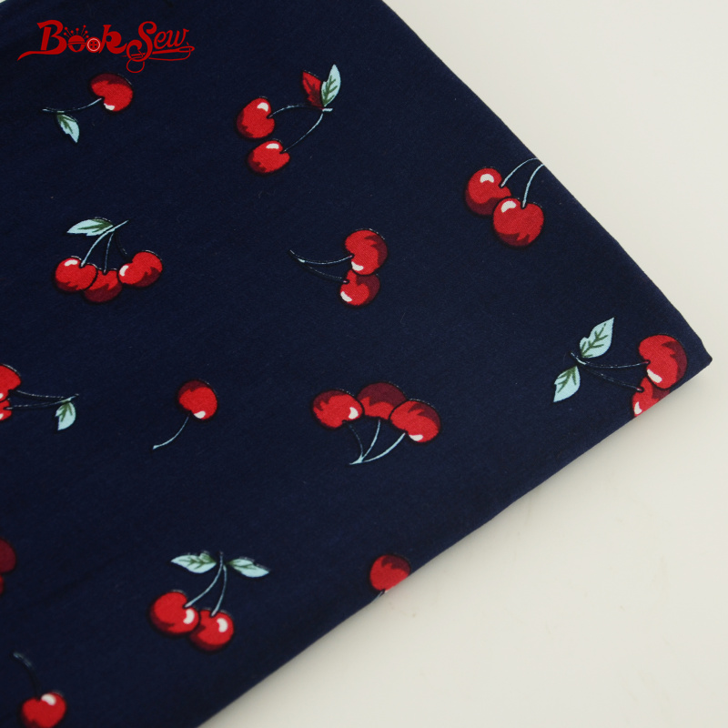 1 Piece Red Cherry and Leaf Style 100% Cotton Fabric Pre-cut Dress Patchwork Scrapbooking Bedding 50cmx145cm Home Textile Tissue(China (Mainland))