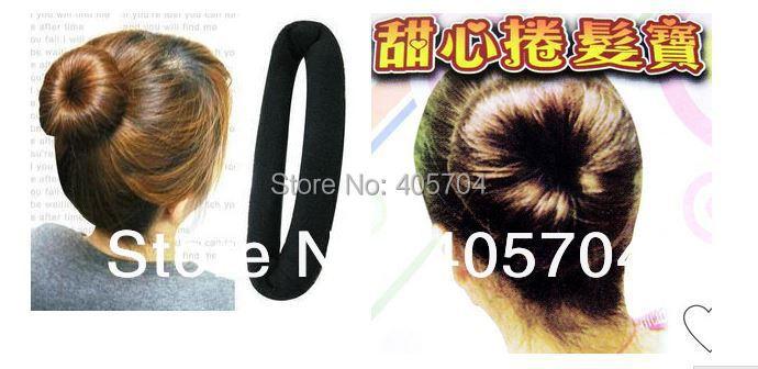 Hair styling sponge,Hair styling stuffed bun hair band hair maker ,spiral curlers, free shipping(China (Mainland))