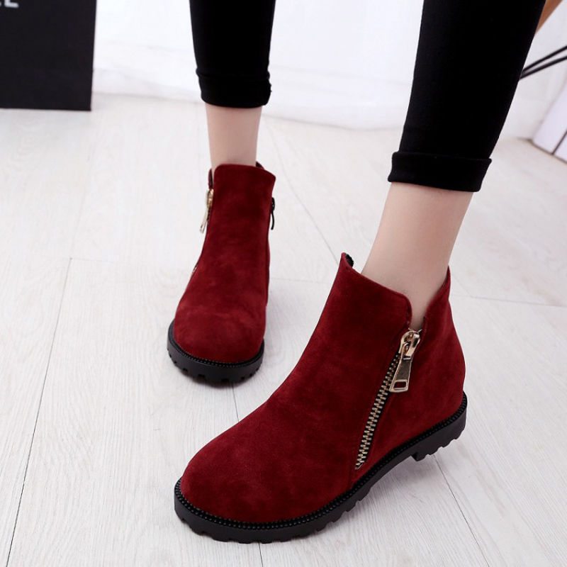 New 2015 winter boots  zipper Fashion platform boots for women Ankle boots Martin boots two colors  women boots S016