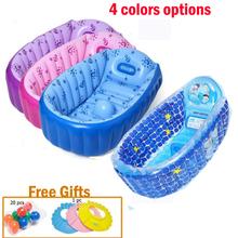 4 цветов варианты милые печатных ванна мультфильм ванна 0 — 5 детей школьного возраста бассейн складной надувной ванны