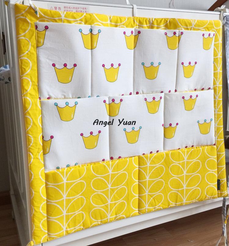Детская кроватка висит сумка для хранения хлопка новорожденных кроватки организатор игрушка пеленки карман для кроватки постельных принадлежностей аксессуары 7 моделей в наличии