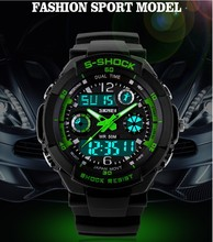 Electronic 2014 New SHOCK Dual Display Sports Waterproof Watch G Digital LED Watches Fashion Watch Men 5 Colors Free Shipping