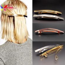 Großhandel mode punk gold/silber/rose vergoldet ebene kleben großen hairgrip haarspangen zubehör schmuck für frauen(China (Mainland))
