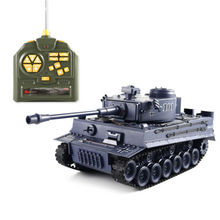 RC Remote Control 1:18 German Tiger Airsoft Battling Fighting Tank Navy blue