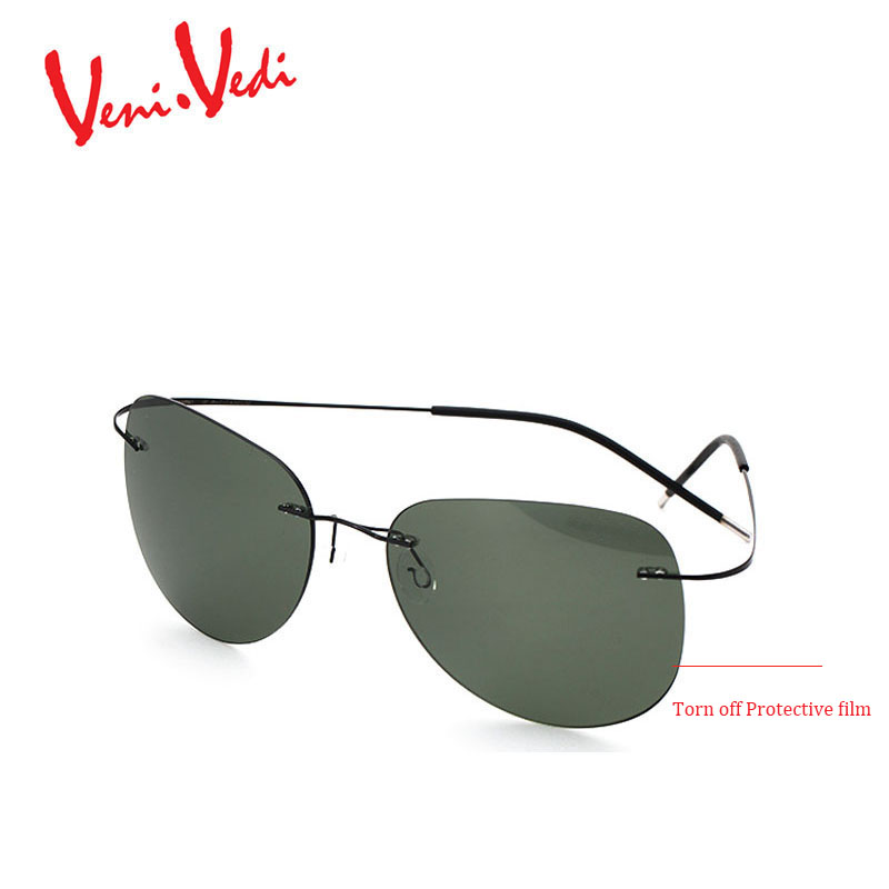 Frameless Vintage Glasses : VENIVEDI new Mens sunglasses men sun glasses Polarized ...