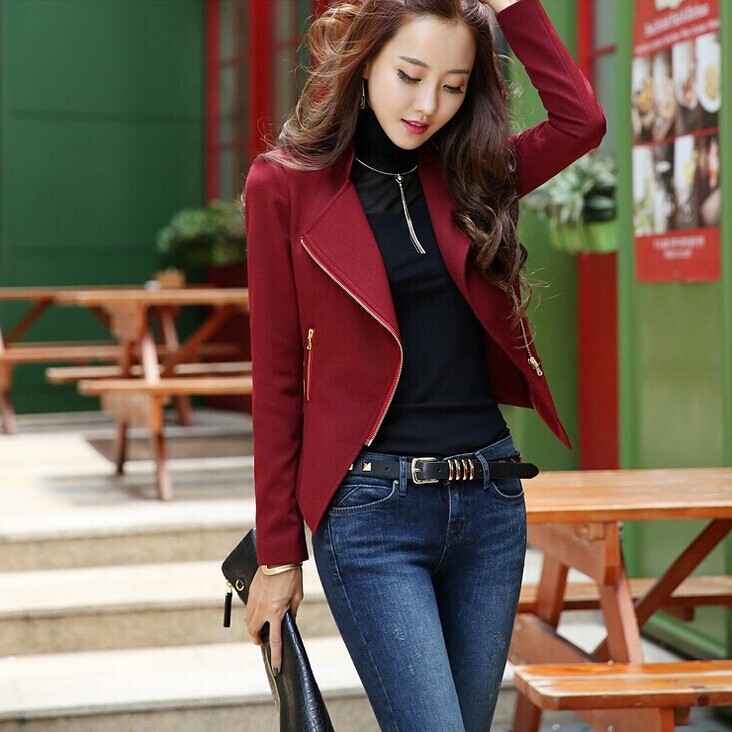 Hot! EUR-USA  2015 new spring women's fashion wild short paragraph small suit jacket  Slim women small suit
