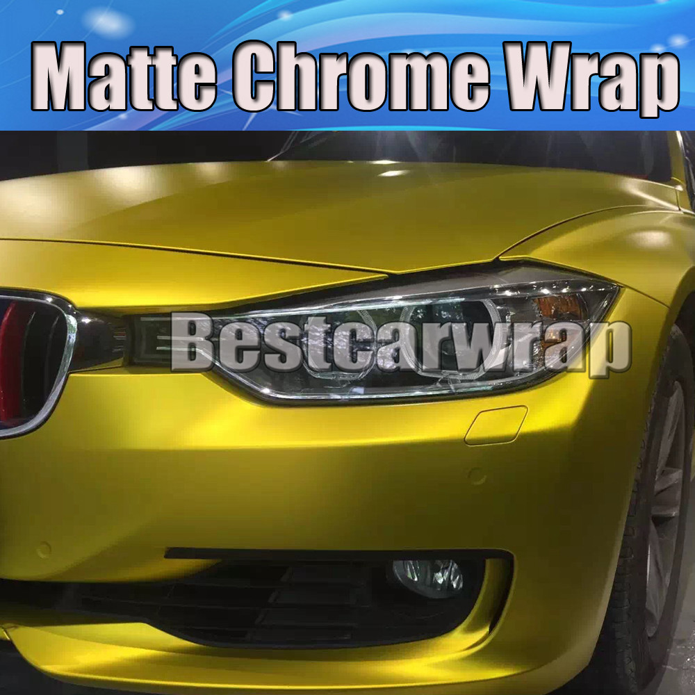 Gold chrome car wrap for sale