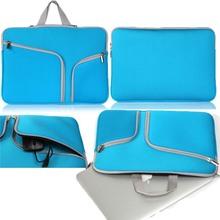 "Sleeve Bag Dual Zipper Pocket Bag Carrying Neoprene Case For MacBook Air 11'' 12'' 13"" Retina 13.3 15.4 Pro 13.3 15.4 Shell(China (Mainland))"