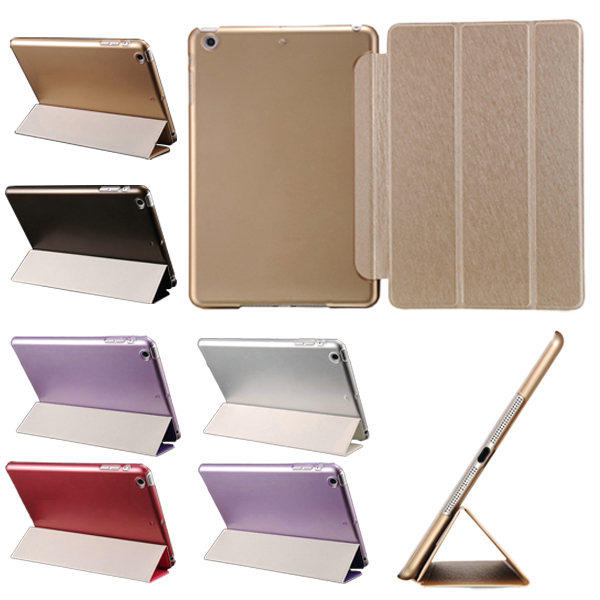 "Гаджет  Ultrathin Stand Function Cover for iPad Air 9.7"" Smart PU Front Plastic Back Champagne Gold Black Red Brand New None Компьютер & сеть"