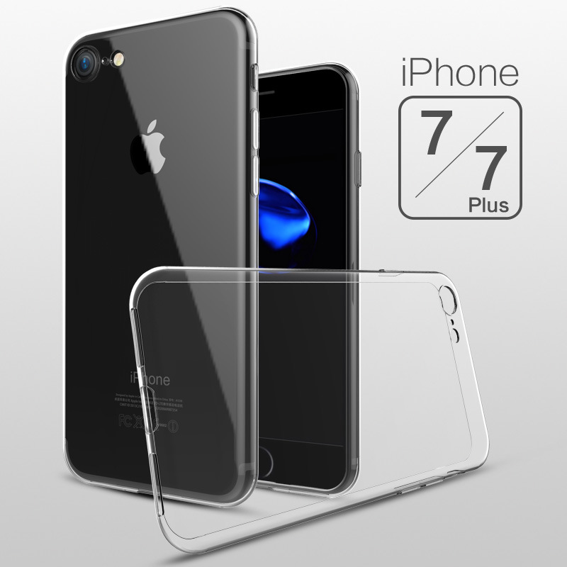 Case For iPhone 7 4.7inch 7Plus 5.5inch Transparent TPU Soft Shell Cover Full Ultra Slim Protection i7 Mobile phone Accessories(China (Mainland))