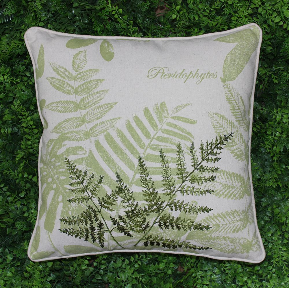 Throw Pillow On Chair : VEZO HOME embroidered pteridophyte cotton linen sofa cushions cover throw pillows cover chair ...