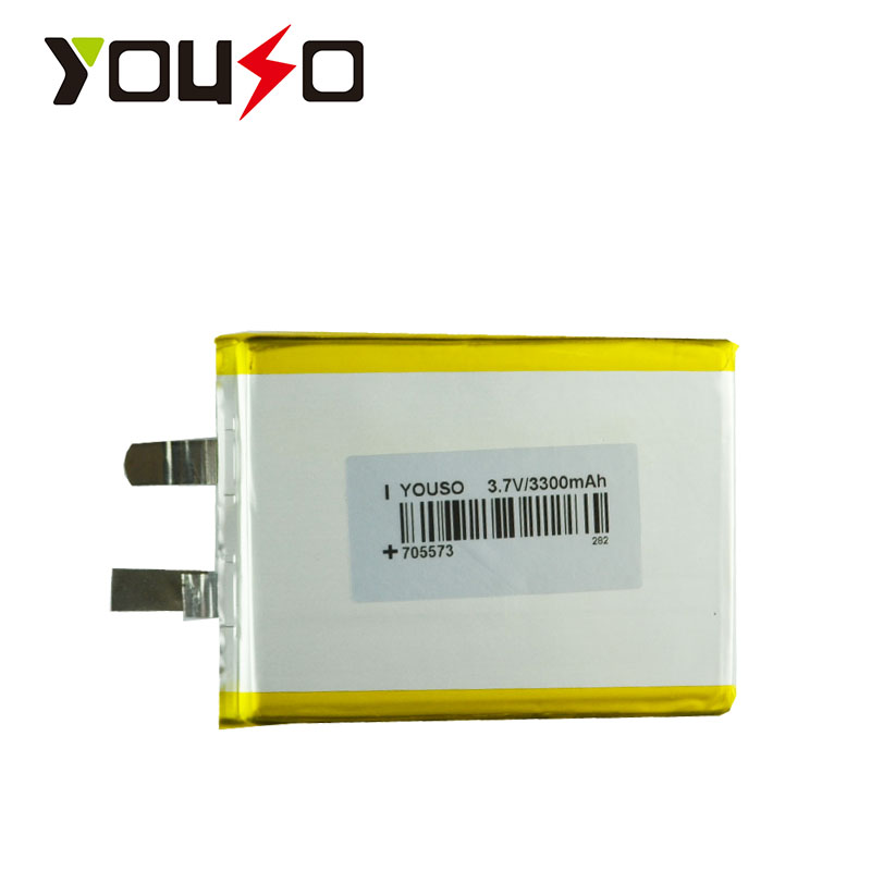 Wholesale Factory direct mobile power equipment tester batteries 705573 3300mAh lithium polymer battery(China (Mainland))