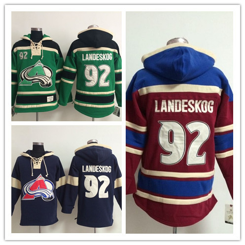 Lowest Classic Men's Colorado Avalanche Hoodie Jerseys,#92 Gabriel Landeskog Ice Hockey 100% Embroidery Names & Logo