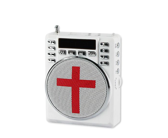 2016 new mp3 player Bible Christian gospel radio sermon, reading machines B302 WIth FM Radio USB TF card(China (Mainland))