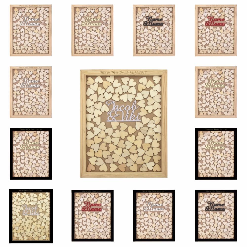 Grav en bois coeur promotion achetez des grav en bois coeur promotionnels sur - Cadre photo mariage personnalise ...