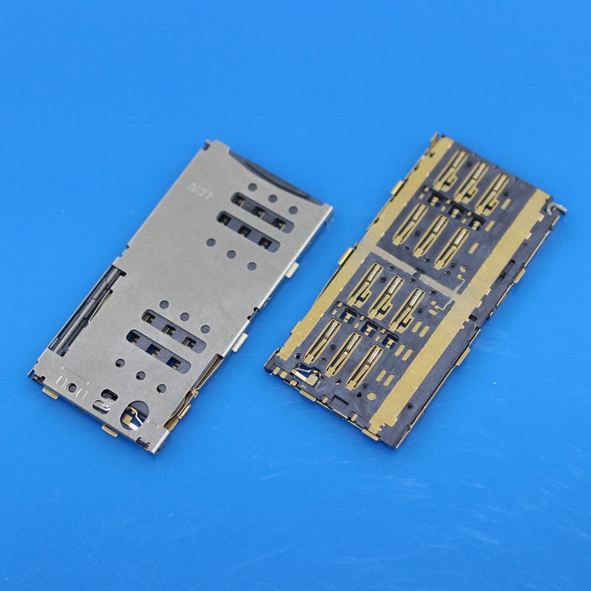 10PCS/LOT For Meizu M1 Note M463M M463U MEILAN NOTE SIM Card + SD Card Reader Holder Slot Tray(China (Mainland))
