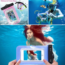 Waterproof Bag Pouch Cases Samsung Galaxy S7 Edge HOMTOM HT6 Diving Underwater Cover Universal Phone - KuTao store