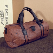 2015 High Quality Small Business Men leather travel duffle bag sac de voyage Cossbody Men Gym Bag bolsa de couro masculina L483(China (Mainland))
