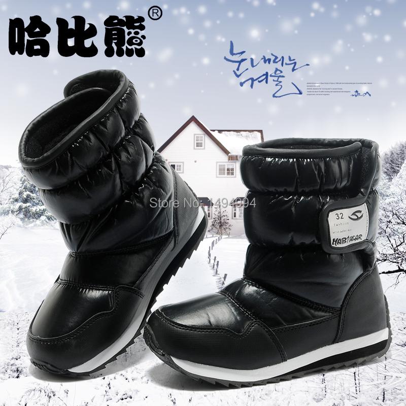 Hobibear лучших брендов дети сапоги 2015 дети зимняя обувь мальчики и девочки