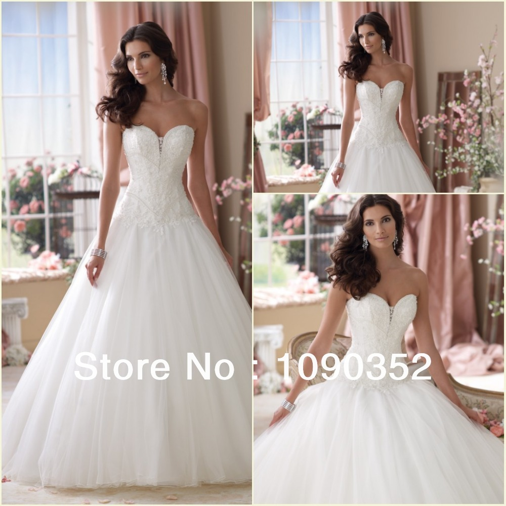 Appliqued see through corset sweetheart princess tulle for Princess corset wedding dresses