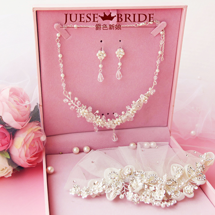 quality bride hair accessory necklace hair accessory set marriage accessories wedding accessories<br><br>Aliexpress