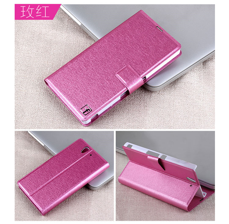 pu leather mobile phone case sony xperia z l36h c6603 c6602 cover flip luxury colorful protective shell - Shenzhen YD Phone Bags & Cases store