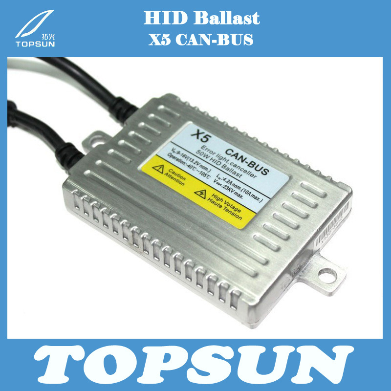Фотография Free Shipping 2 pcs Best Price Best quality 50W CAN-BUS HID xenon X5 DLT ballast error canceller Slim Ballast