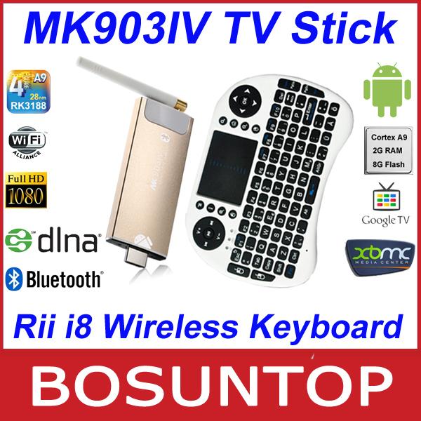 [Rii i8 wireless keyboard]Quad Core Android tv box MK903IV Android4.2 RK3188 Quad Core 2G RAM 8G ROM WiFi Bluetooth HDMI Mini PC(China (Mainland))