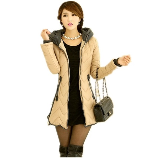 2015 New winter Women's Fashion Clothing long thick Cotton female down jackets desigual coats tracksuit Down & Parkas(China (Mainland))