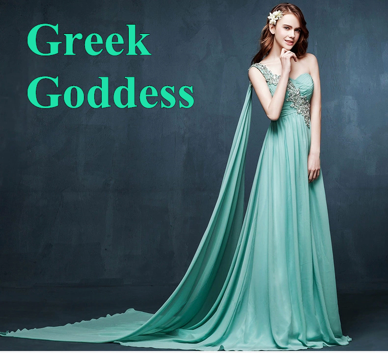 Greek goddess one shoulder sexy chiffon ribbon crystal embellishment elegant long evening dress party homecoming dresses 2015(China (Mainland))