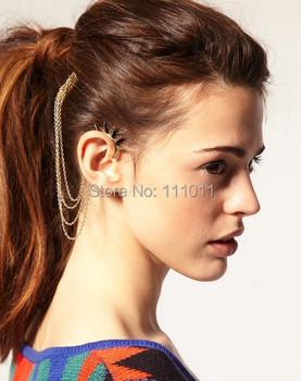 2014 Punk Style Tassel personality Ear Cuff Earrings vintage Jewelry Free Shipping SPX0502