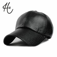 Cool!new fashion PU black Baseball Cap women Hats For men fall Leather cap Trucker cap Sports snapback winter hats for women(China (Mainland))