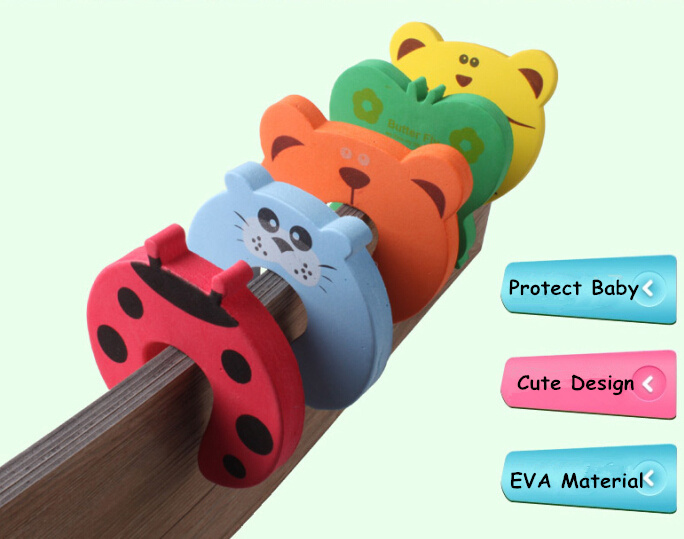 1Pcs Infant Baby Toddler Kid Door Stopper Safety Finger Guard Protector Cute Cartoon Animal Foam Cushion Home Nursery Decor
