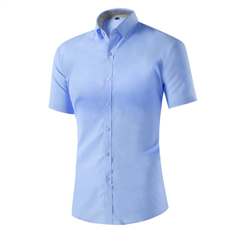 Brand New Short Sleeve Men Shirts Casual Hot Solid Male