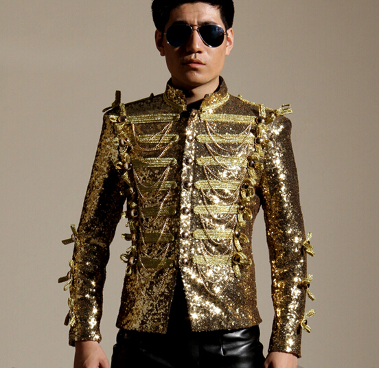 Collection Gold Blazer Men Pictures - Reikian