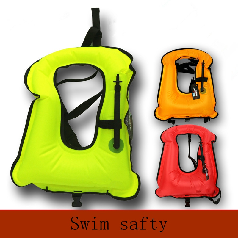 Free shipping Inflatable life jacket Super light Buoyancy vest Float ring swim Snorkeling dive suit Equipment swim Adult Kids(China (Mainland))