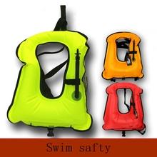 Free shipping Inflatable life jacket Super light Buoyancy vest Float ring swim Snorkeling dive suit Equipment swim Adult Kids
