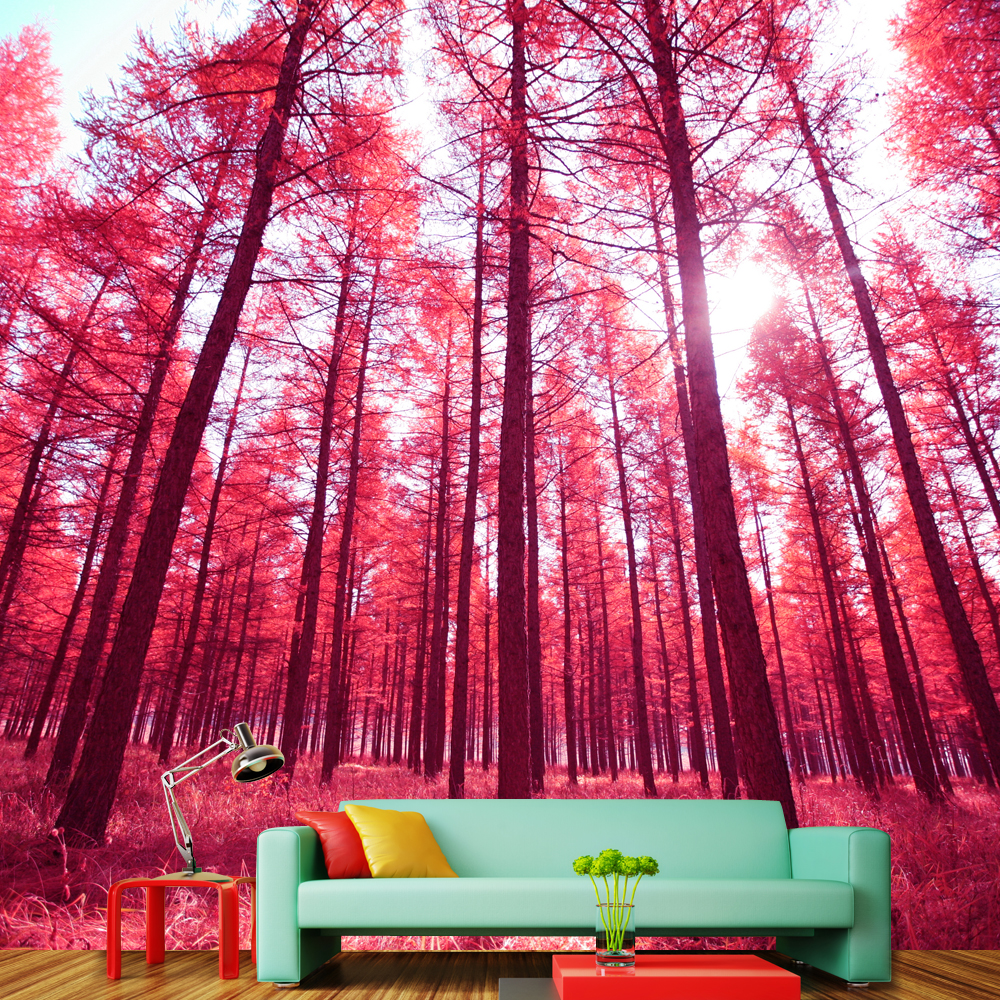 high quality modern desgin natural scenery red trees