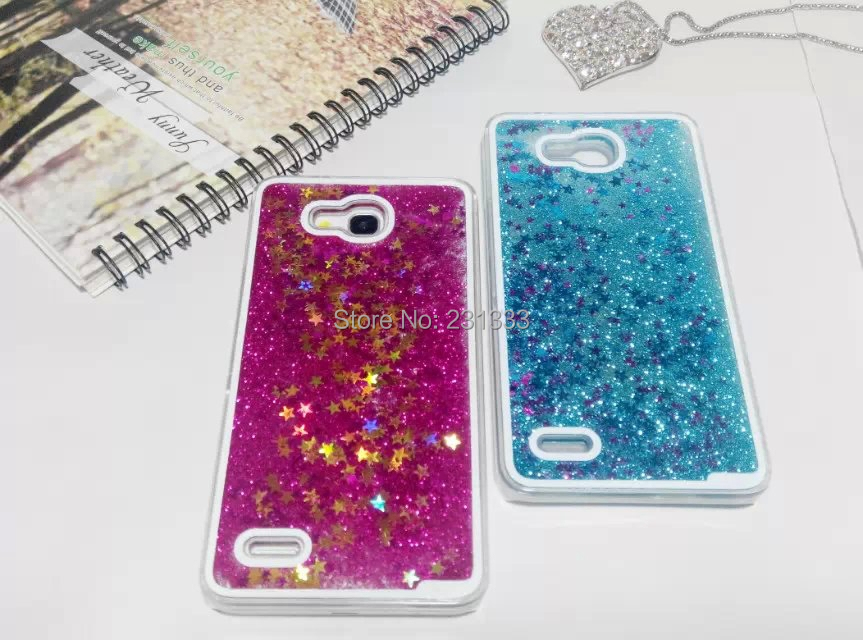 Glitter Stars Bling Dynamic Liquid Quicksand Flowing Transparent Hard Case For Huawei Ascend Mate 7 P7 Honor 3X Skin Cover 50pcs