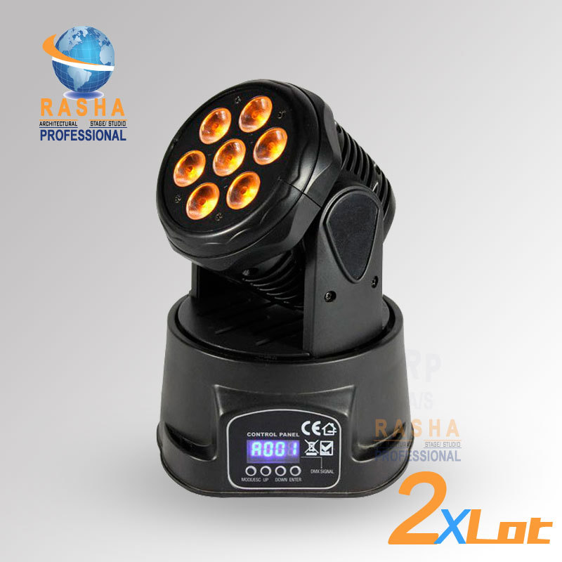 2X LOT Factory Price-Freeshipping 7pcs*12W 4IN1 RGBW MINI LED Moving Head Wash Light,ED Moving Head For Event,Disco Party(China (Mainland))