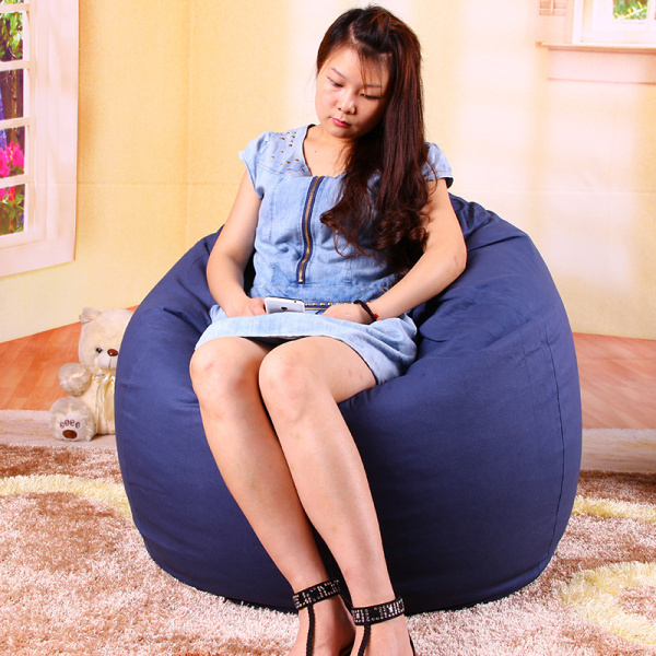 FREE SHIPPING bean bag covers only large drop bean bags blue bean bag couch 100% cotton kids bean bag sofa chair without filling(China (Mainland))